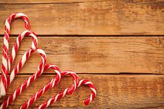 Christmas candies on background. Christmas candies on wooden background Stock Photography