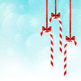 Christmas candies on blue sky Stock Photo