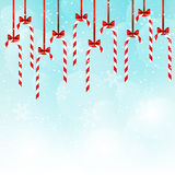 Christmas candies on blue sky Stock Photography