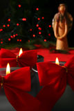 Christmas candle Stock Photo