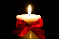 Christmas candle royalty free stock image