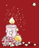 Christmas candle. Vector illustration of christmas candle Stock Image