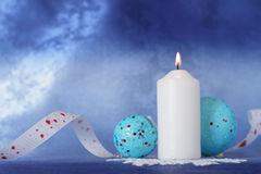 Christmas candle. Royalty Free Stock Photos