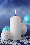 Christmas candle. Stock Photo