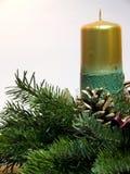 Christmas Candle. For Christmas holiday Stock Photography