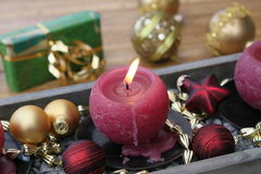 Christmas candle Stock Photos