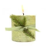 Christmas candle Stock Photography