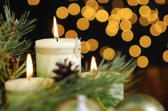Christmas candle. Stock Photography