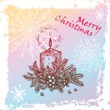 Christmas candle Stock Photo