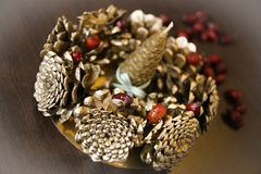 Christmas candle. Natural hand made christmas decoration Royalty Free Stock Photography