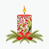 Christmas candle. Stock Photos