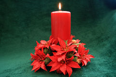 Christmas candle. Stock Images