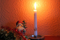 Christmas candle. Royalty Free Stock Image