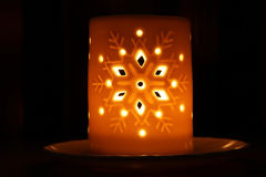 Christmas candle as background Royalty Free Stock Images