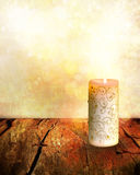Christmas Candle Background Stock Photos