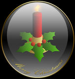 Christmas, Candle, Background, Holidays Stock Image