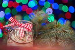 Christmas candle background Stock Photo