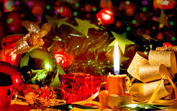 Christmas Candle stock image