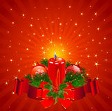 Christmas Candle background Royalty Free Stock Image