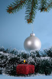 Christmas Candle and  Bauble Stock Images
