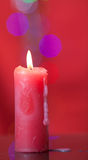 Christmas candle Royalty Free Stock Images