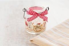 Christmas candle with bow. Christmas candle with red bow horizontal Stock Photos