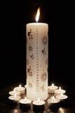 Christmas candle Stock Image