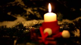 Christmas candle. stock video footage