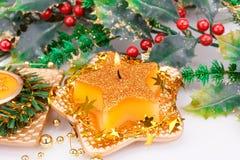 Christmas candle Stock Photos