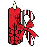 Christmas candle design stock illustration