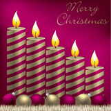 Christmas Candle Card Stock Photo