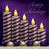Christmas Candle Card Stock Image