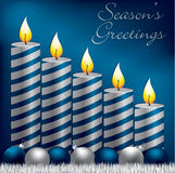 Christmas Candle Card Stock Photography