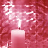 Christmas Candle Card - Stock Photo Royalty Free Stock Photos