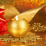 Christmas Candle Card - Stock Photo Stock Images