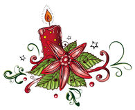 Christmas, candle Royalty Free Stock Photo