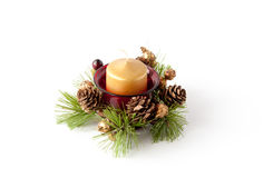 Christmas candle composition Stock Photography