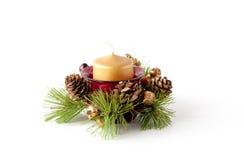Christmas candle composition Stock Photos