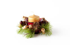Christmas candle composition Stock Image