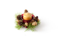 Christmas candle composition Royalty Free Stock Photos