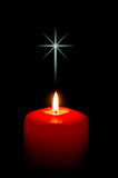 Christmas Candle with Cross Stock Images