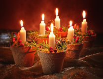 Christmas Candle Decoration Stock Images