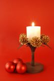 Christmas candle decoration Royalty Free Stock Image
