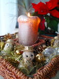 Christmas candle decoration funny Royalty Free Stock Image