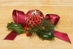 Christmas candle decoration Stock Image