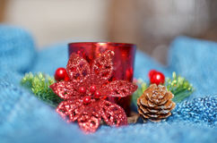 Christmas candle for decoration Royalty Free Stock Photos