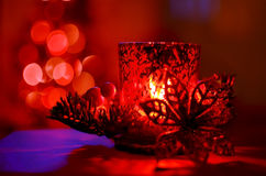 Christmas candle for decoration Royalty Free Stock Photo