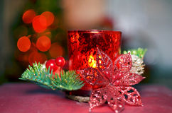 Christmas candle for decoration Stock Images
