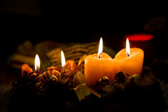 Christmas candle decorations Stock Photography
