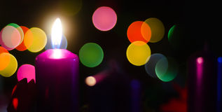 Christmas Candle Flame Stock Photography